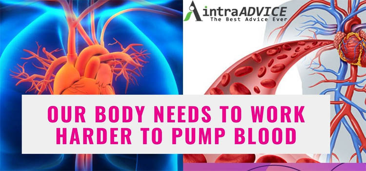 Our Body Needs To Work Harder To Pump Blood