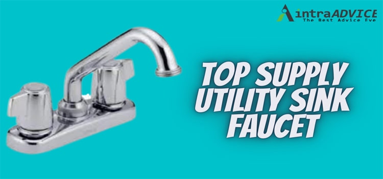Top supply utility sink faucet